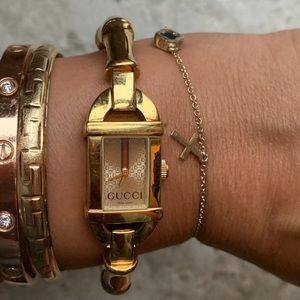 Gucci 6800l Bamboo Women's Gold Plated Watch